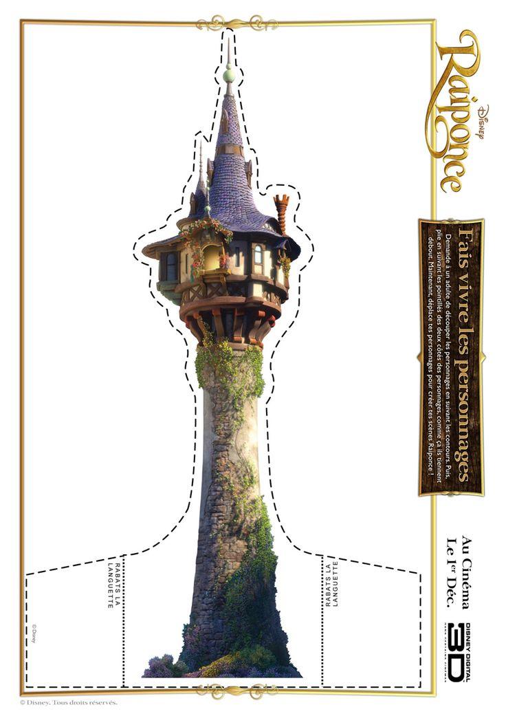 Activités manuelles DISNEY - Château de Raiponce à découper