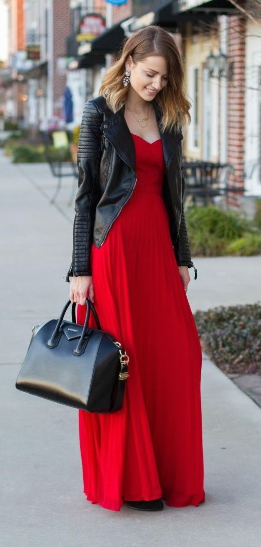 Love It or Lose It: Moto Glam! What's your take on wearing a moto jacket with an elegant evening gown?