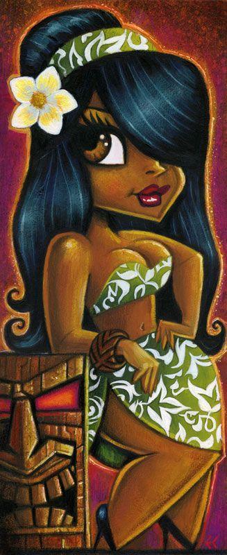 Mai Kai Girl - Josie by Eddy Crosby (Acrylic on hardboard) www.eddycrosby.com
