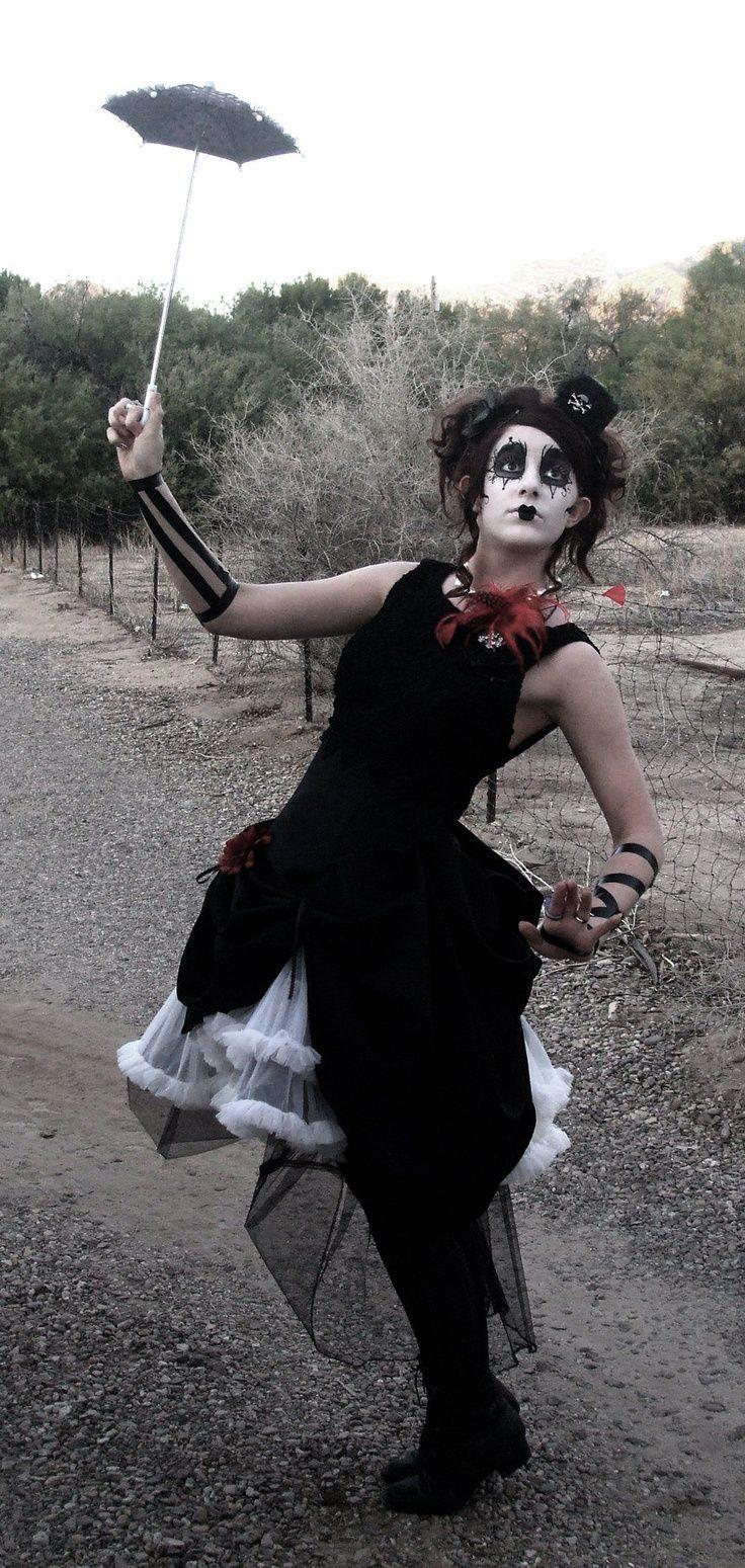 Night Circus. Female Clown Make-up Love.                                                                                                                                                     More