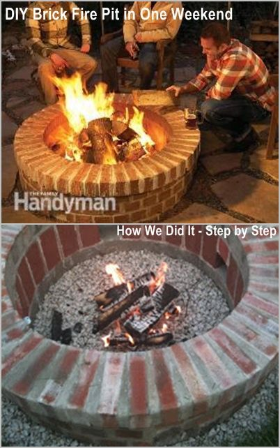 DIY Brick Fire Pit in one weekend. Including list of supplies and some material work-arounds we found.