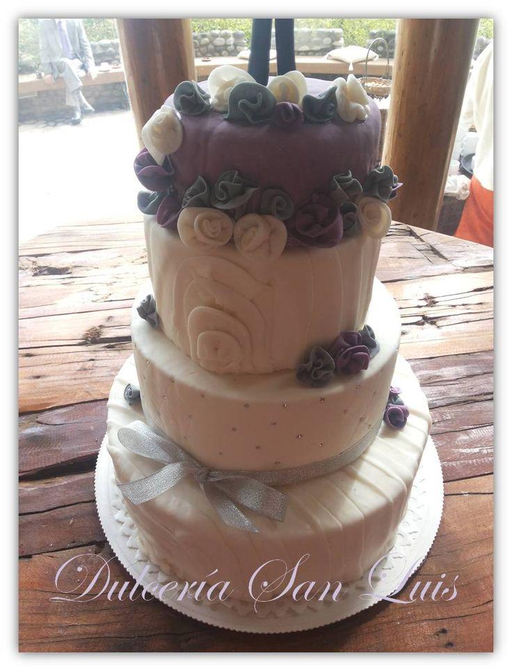 #torta #matrimonio #boda #rustico #lila #natural