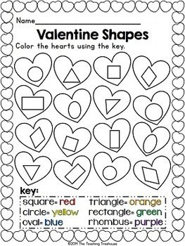 Freebie! These fun Valentine shape puzzles will help your students recognize and identify two-dimensional shapes. Simply print, laminate, and cut apart. Also included is an ink saving version, as well as 4 ready-to-use practice worksheets. Great for math centers! Aligned to Kindergarten Common Core standards.