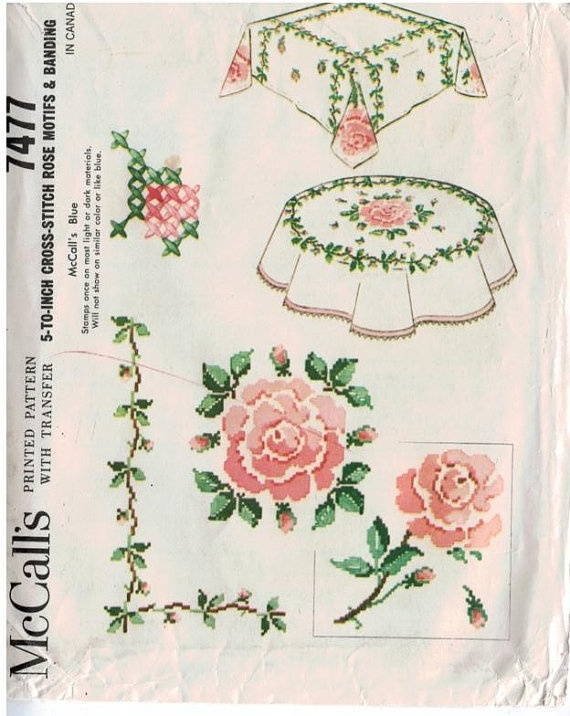 Rose Motif for tablecloths and pillows