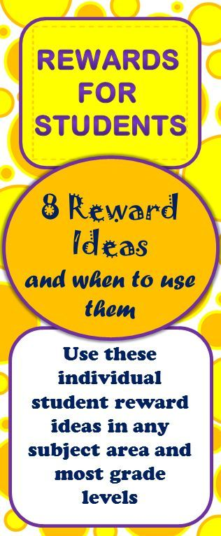 Ideas for rewarding individual students: especially helpful for a middle school classroom