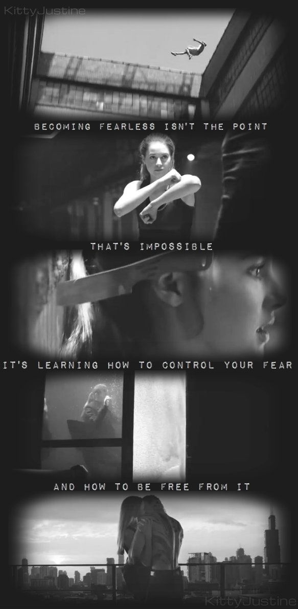 It's learning how to control your fear, and how to be free from it.