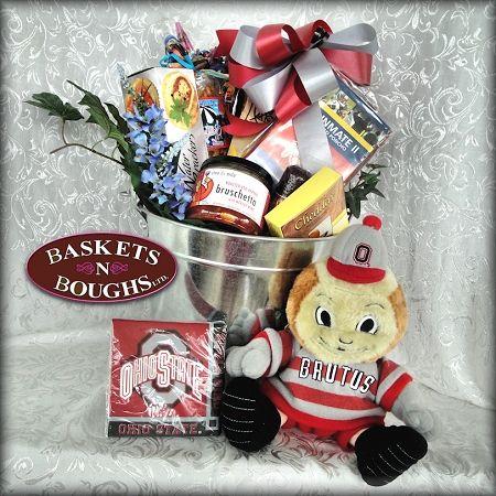 Buckeye Tailgate Grill Gift Basket #Ohio Themed Gift Baskets  #Housewarming Gift Baskets #Welcome Gift Baskets