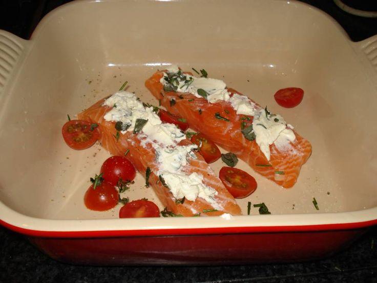 Zalm Met Roomkaas En Italiaanse Kruiden recept | Smulweb.nl
