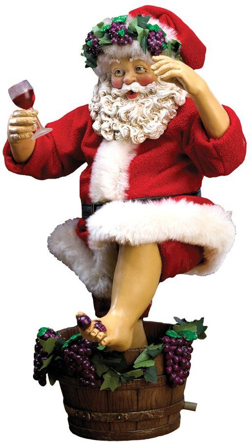 Kurt Adler 10″ Grape-Stomping Wine Santa