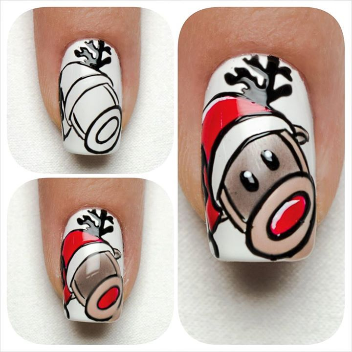 Tutorial by Indigo Nails Lab - Reindeer <3 Find more Inspiration at www.indigo-nails.com #Nail #Christmas #Mani
