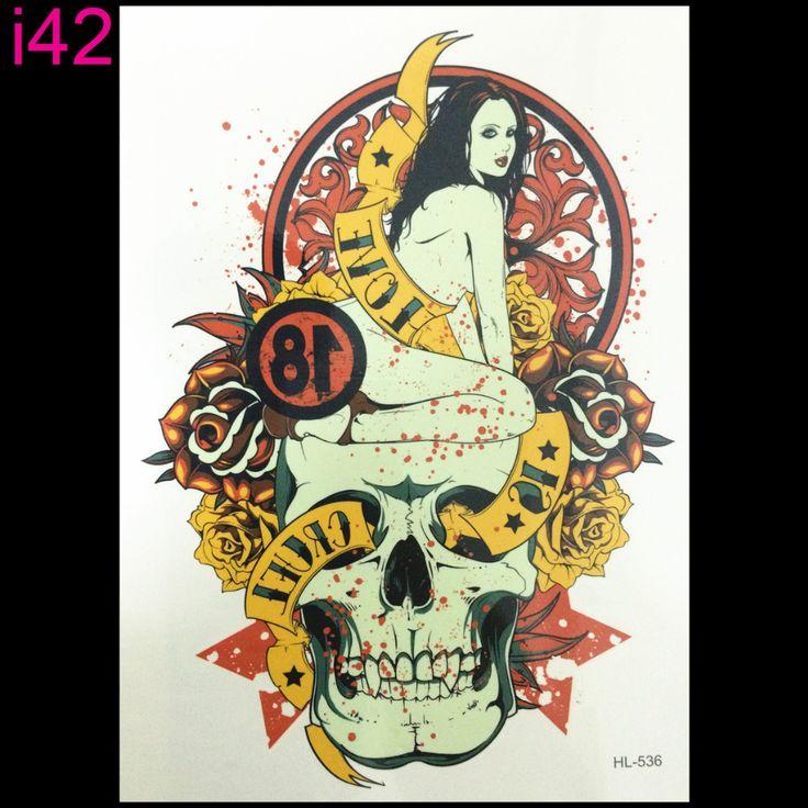 Скелет 3d татуировки Временные Наклейки Татуировки Флэш татуировки секс красивая девушка Боди-Арт Экзотические Макияж бесплатная доставка