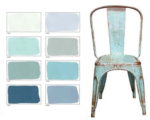 Coastal Style color palette--just love these colors! Proof I can combine my browns, blue-greys and turquoise-greys all in one palette.