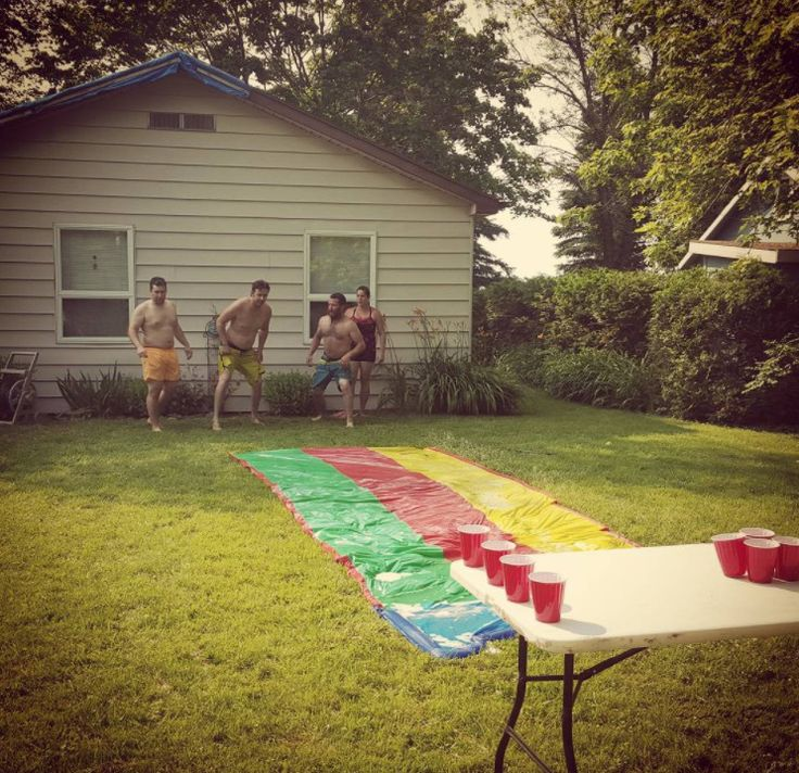 Outdoor drinking games will step your next summer party up a notch #adults #beer