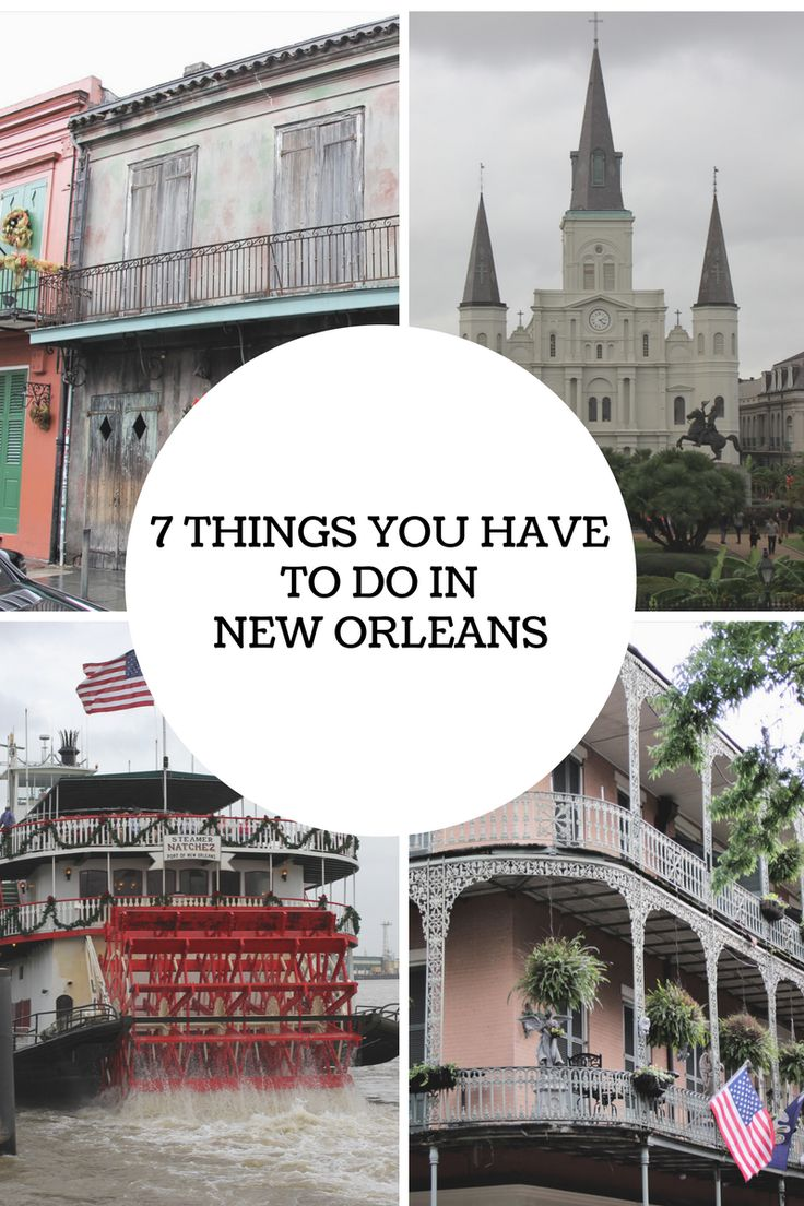 Don't miss this list of the 7 things you have to do in New Orleans! This list will help to ensure that you have a great time in New Orleans!