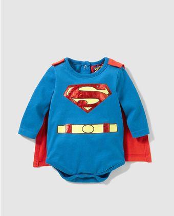 Camiseta body de bebé niño Personajes de Superman