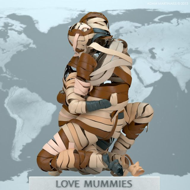 """ It doesn't matter which skin color you wear, everyone can become a mummy! - LOVE MUMMIES"""