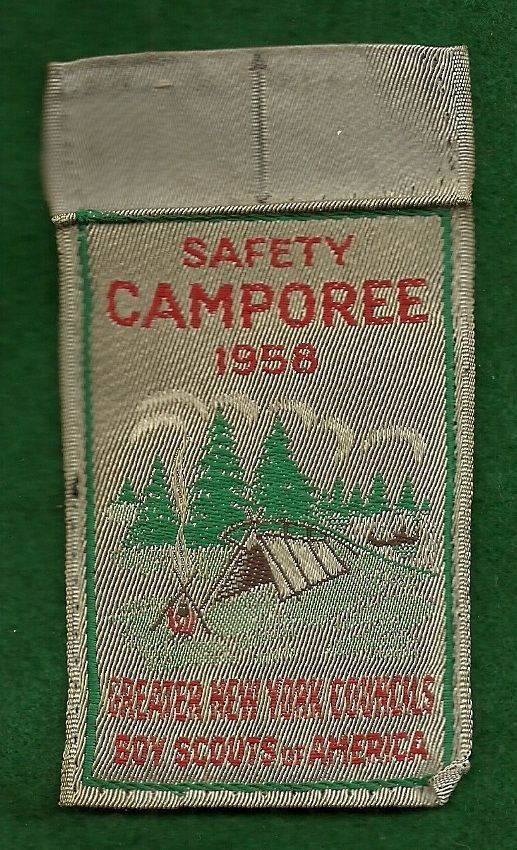 Vintage Boy Scout Woven Camp Patch 1958 Camporee Greater New York Councils…