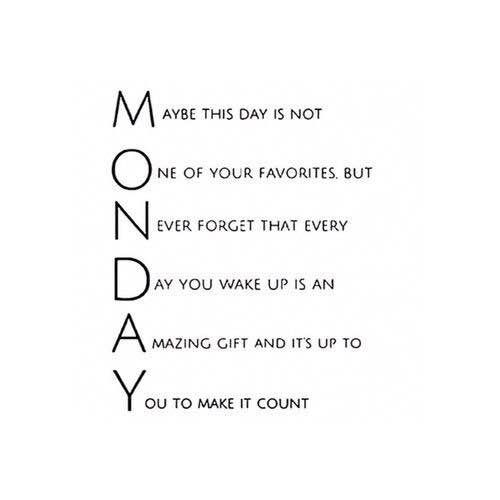 This is what #Monday means. ❤️ What does Monday mean to you? 😊 #goodmorning #newweek #newgoal #goal #goals #yolo