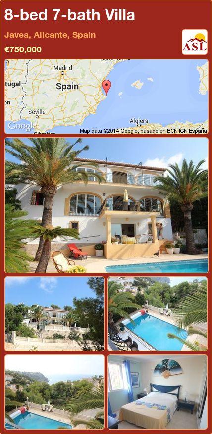 8-bed 7-bath Villa in Javea, Alicante, Spain ►€750,000 #PropertyForSaleInSpain