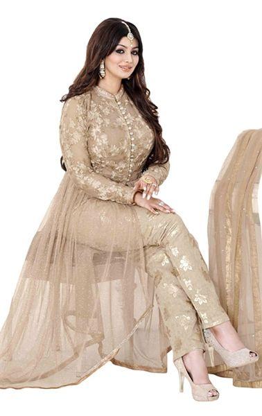 Picture of Mesmerizing Beige Designer Bollywood Salwar kameez
