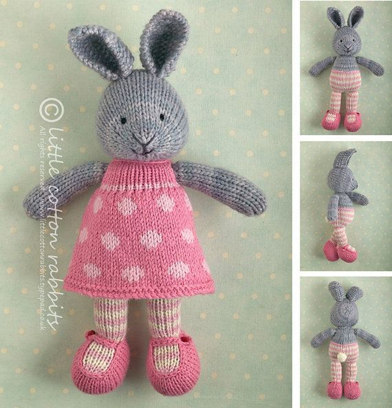 Knitted Toy knitting pattern for a bunny von Littlecottonrabbits