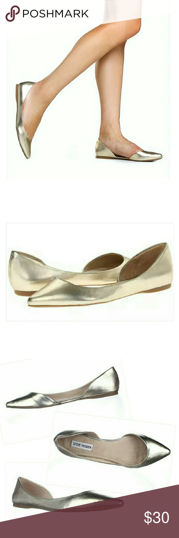 Steve Madden Elusion Dusty Gold D'orsay Flat Shoes Steve Madden Elusion Dusty Gold D'orsay Flat Shoes.  EUC,  WORN ONLY ONCE. Steve Madden Shoes Flats & Loafers