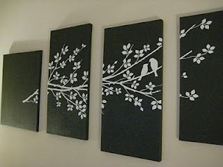 Best DIY Canvas Art Images On Pinterest DIY Canvas Art And - Can i put a wall decal on canvas