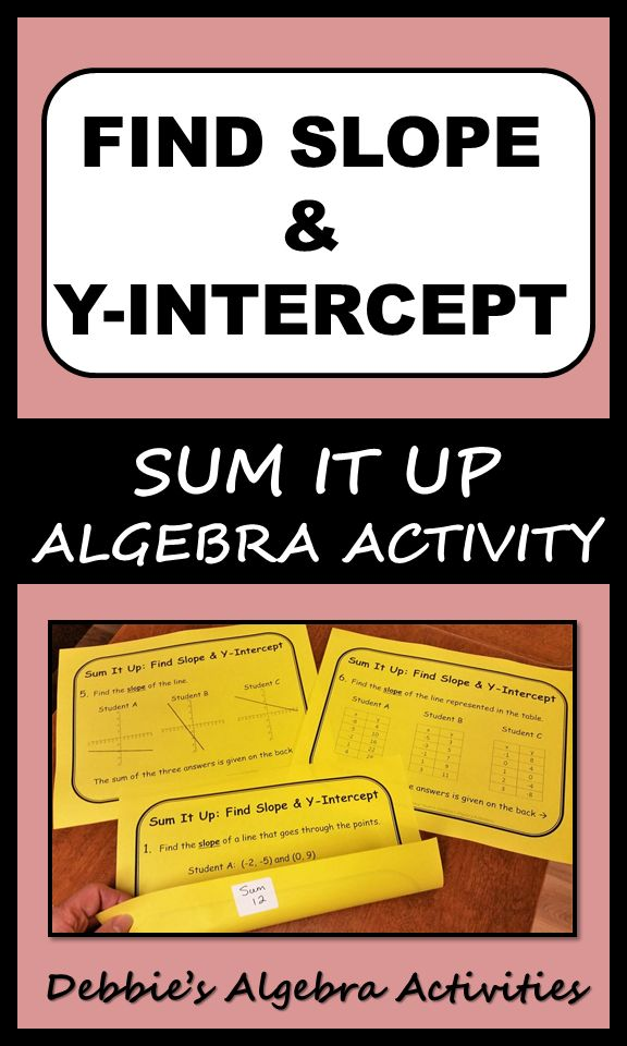 This is a great Algebra activity to find the slope and the y-intercept of linear functions from two points, from graphs and from tables of values. It includes seven stations to use as practice or review.