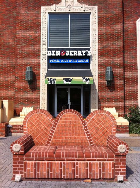 Cool Ben and Jerry's in downtown Chattanooga, TN