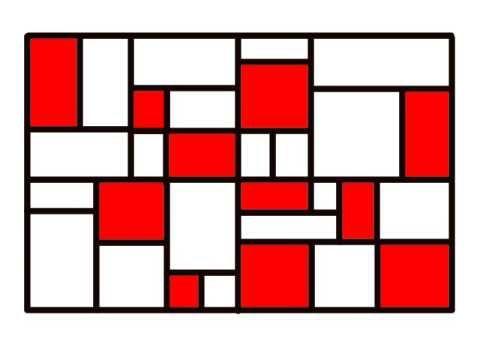 filmpje: hoe zitten de schilderijen van kunstenaar Mondriaan in elkaar.
