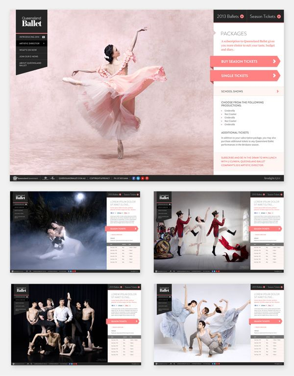 QLD Ballet, 2013 Season Website by Fred Nerby