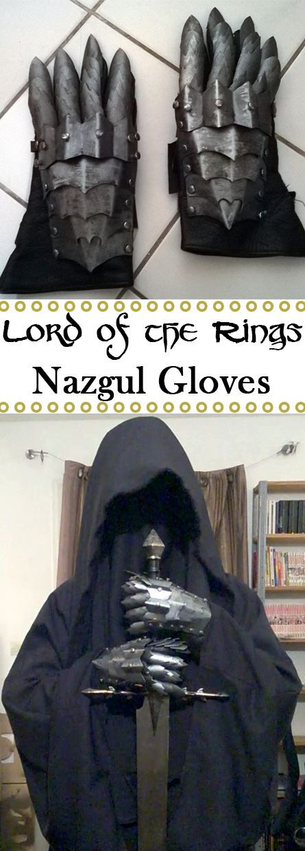 Nazgul gloves made from worbla.