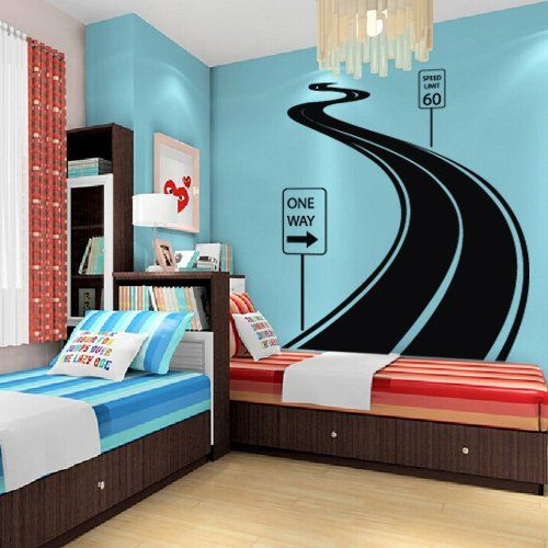 Large Wall Decal Vinyl Sticker Decals Art Decor Design Road Track Car Band  Traffic Sign Nursery