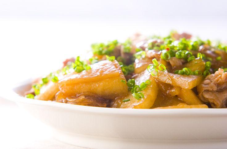 ナンプラーの香りがいいですね。冬瓜と豚肉の春雨炒め[中華/炒めもの]2005.07.27公開のレシピです。
