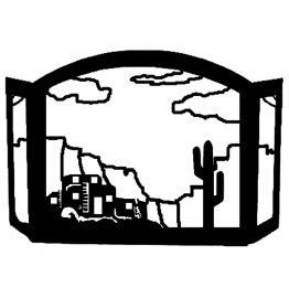 Adobe Pueblo Design Southwestern Fireplace Screen