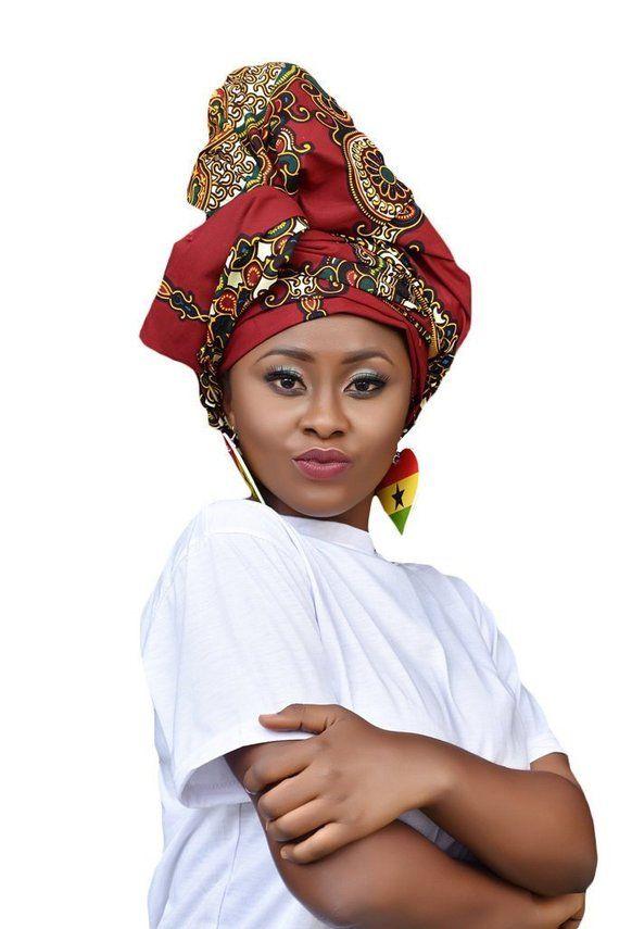 Womens 100/% Cotton Turban Head Wrap black