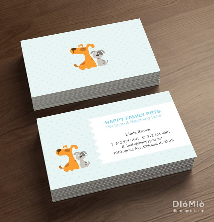 Vet business cards unique business cards pinterest for Veterinarian business cards
