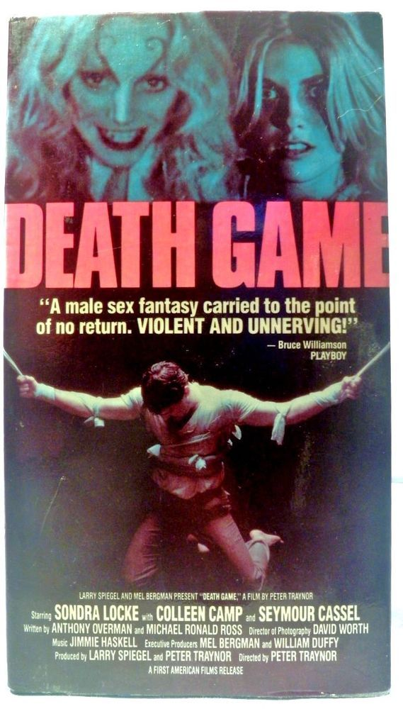 Death Game VHS. Sondra Locke, Colleen Camp, 1970s Bisexual Blondes Exploitation