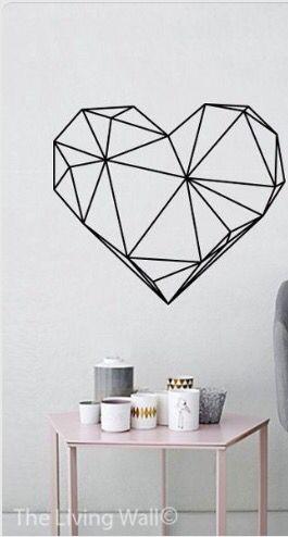 Heart wall sticker