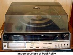 We had a JVC Candle stereo similar to this - record player, radio, 8-track player.