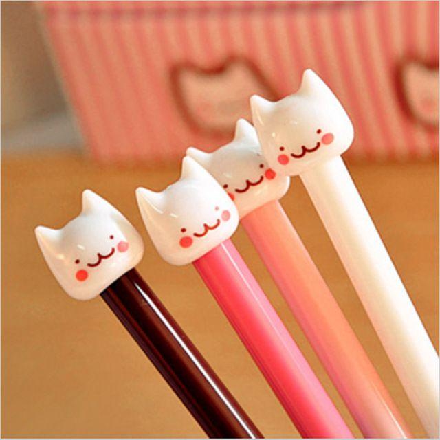 12 pcs/lot New Cute Cat Kawaii Korea Novelty Gel pen s Stationery  Creative Gift Stationery Toys wholesale Free shipping 027