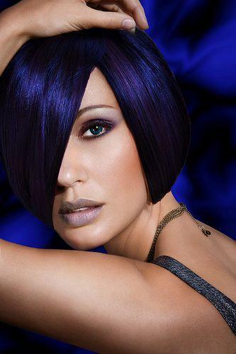 Deep Blue dramatic hair color