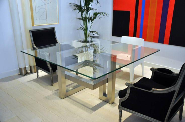 IOS - Mesa de vidrio cuadrada moderna : Mesas de GONZALO DE SALAS