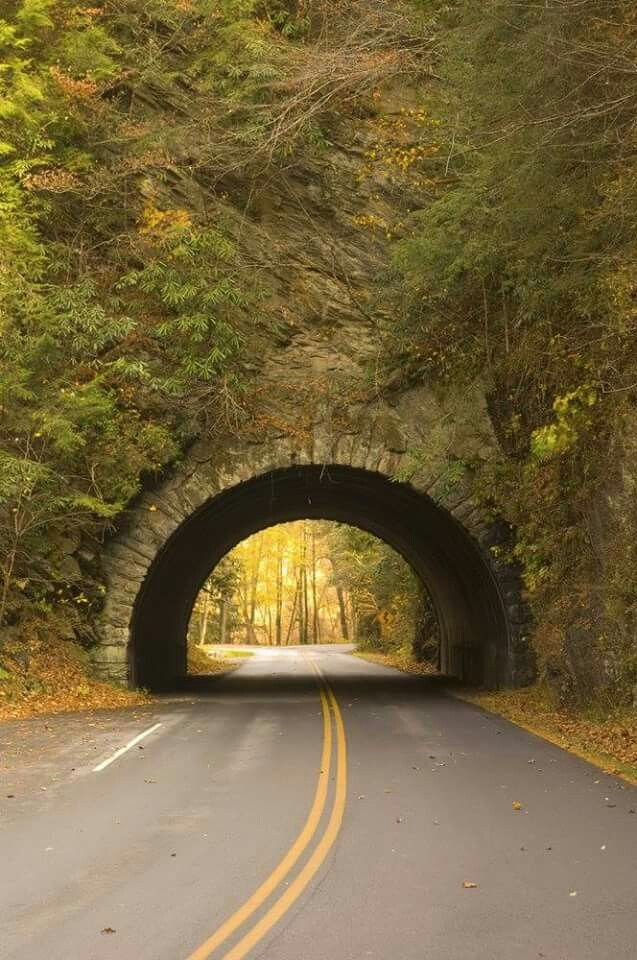 Tunnel in the Great Smoky Mountains National Park