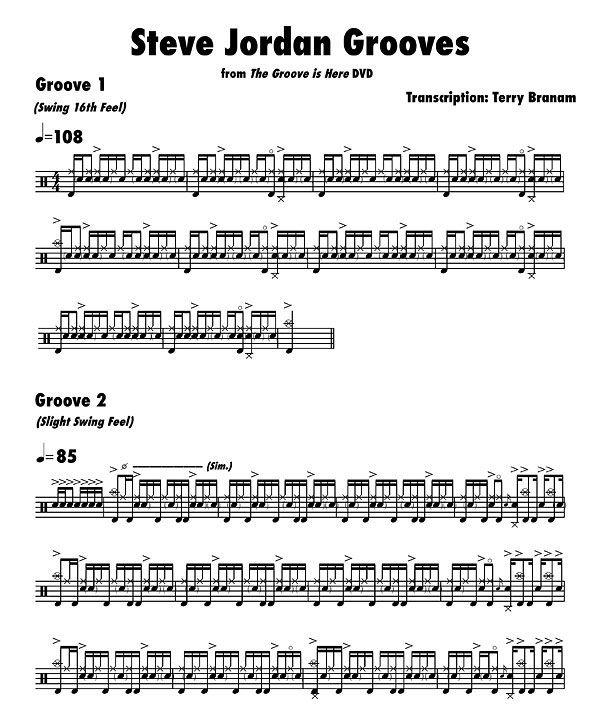 steve jordan drummer | Steve Jordan : 3 Fat Grooves