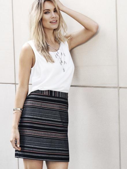 Safari Jacquard Skirt