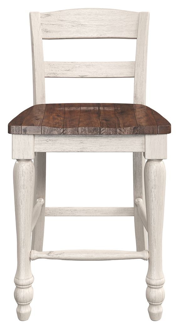 Marsilona Counter Height Bar Stool Set Of 2 Two Tone In