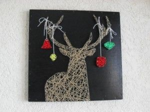 Christmas string art - my attempt at Rudolph