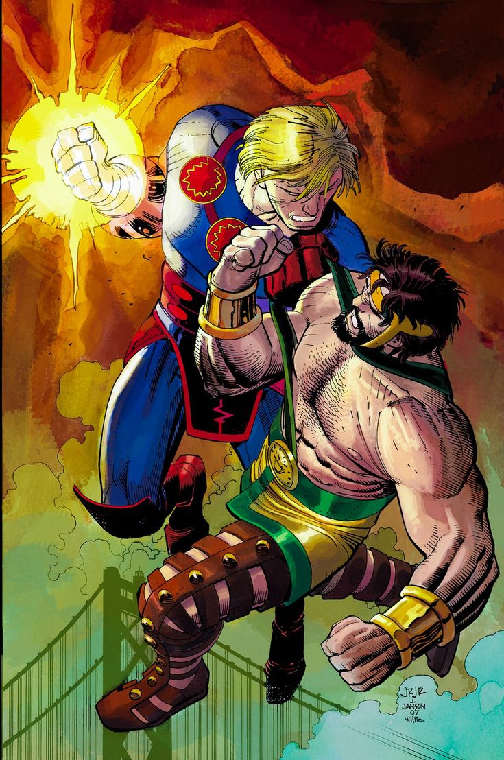 Ikaris of the Eternals vs Hercules by John Romita Jr. (Marvel)