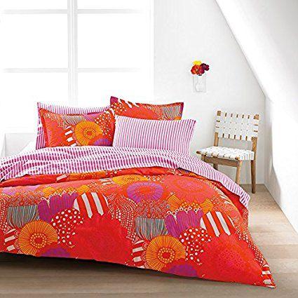 Full/Queen Duvet Set (Marimekko Siirtolapuutarha Orange)
